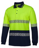 HI VIS LONG SLEEVE POLO'S