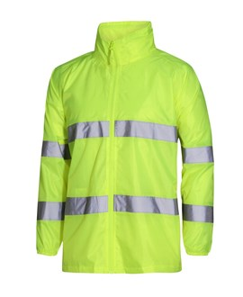 SHOWER PROOF HI VIS JACKET - Reflective Tape for Day Night Use