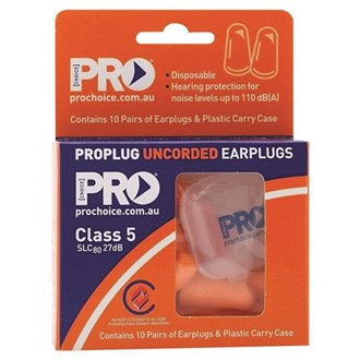 DISPOSABLE EARPLUGS - 10 PACK