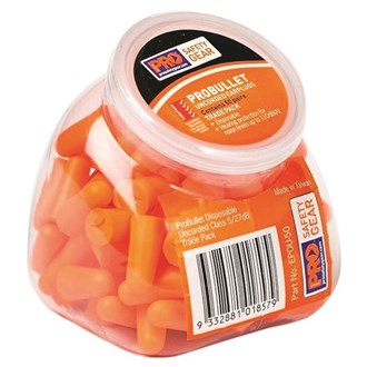 DISPOSABLE EARPLUGS -50 PACK